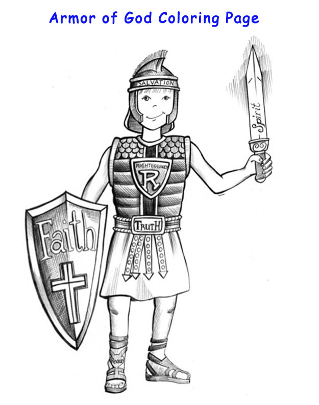Armor Of God Coloring Page :: Discover God 4 Kids